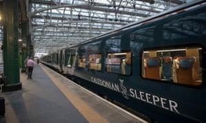 Caledonian Sleeper at a station