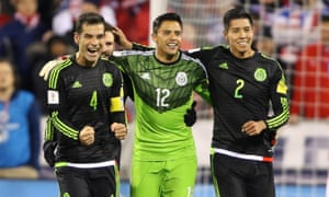 Mexico celebrate their victory in Columbus