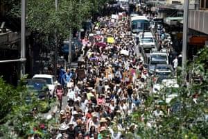 Women's solidarity march in Sydney