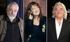 From left, directors Mike Leigh, Jennifer Kent and Paul Greengrass.