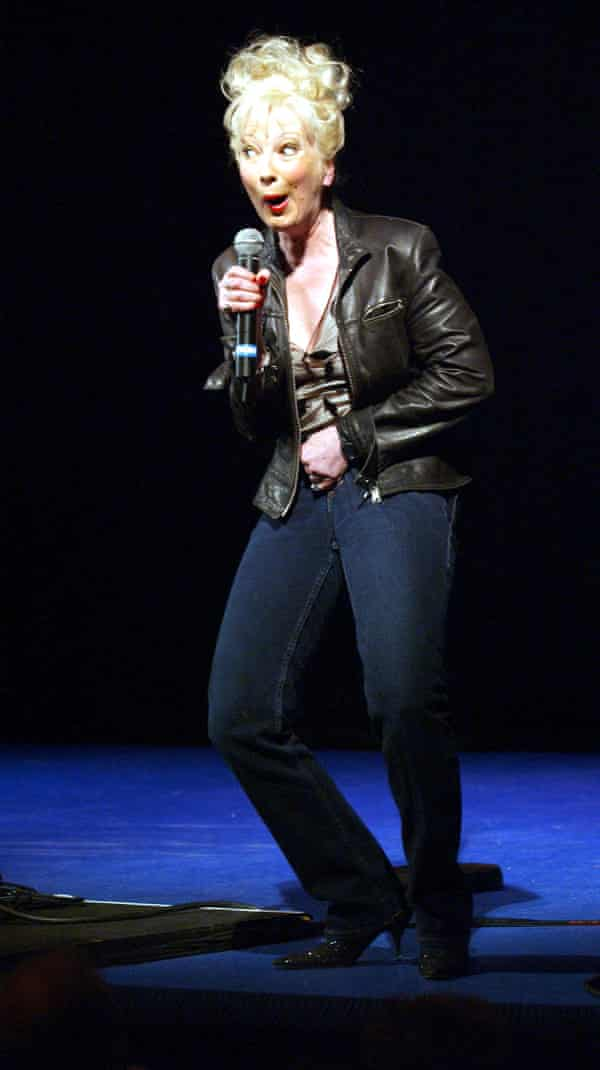 Performing at the Piccadilly theatre in London in 2003.