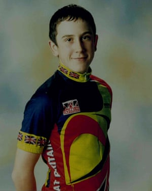 Geraint Thomas photo on the wall of fame at Whitchurch High School, Cardiff, Wales.