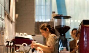 Baristas in a coffee shop