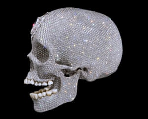 For the Love of God, Damien Hirst's 2007 life-size cast of a human skull in platinum and diamonds. Photograph: Reuters/HO