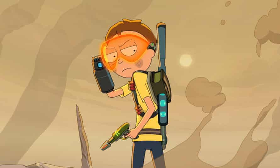 Morty with a Space Gun, wearing a Space Visor