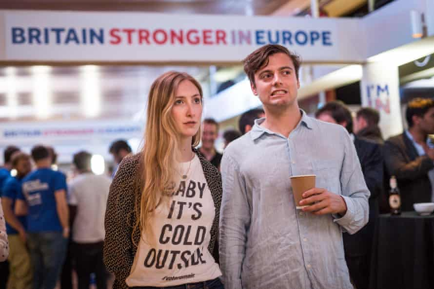 Supporters of the Stronger In campaign at London's Royal Festival Hall.