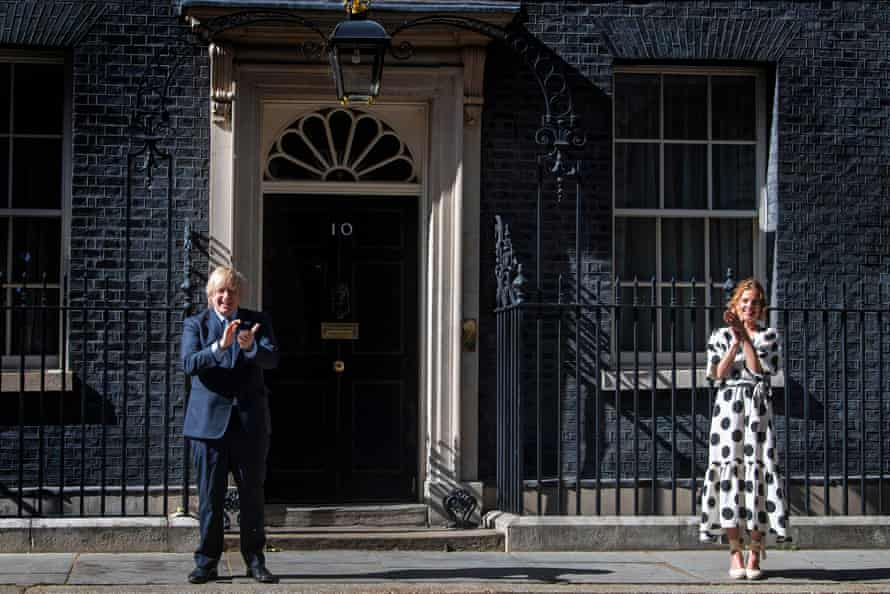 Plas, clapping outside No 10 with Boris Johnson to salute 72 years of the NHS.