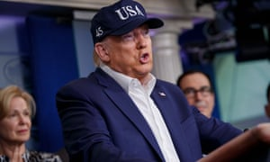 Donald Trump holds press conference on the government response to the coronavirus pandemic