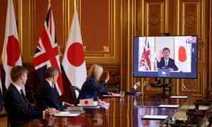 Liz Truss speaks to Japan's minister for foreign affairs Toshimitsu Motegi as the UK secures a free trade agreement with Japan.