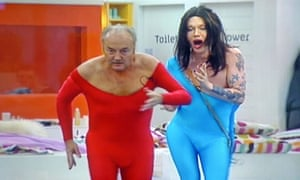 George Galloway and Pete Burns dancing on Celebrity Big Brother