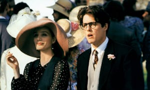 Hugh Grant, with Kristin Scott Thomas, in Four Weddings and a Funeral.
