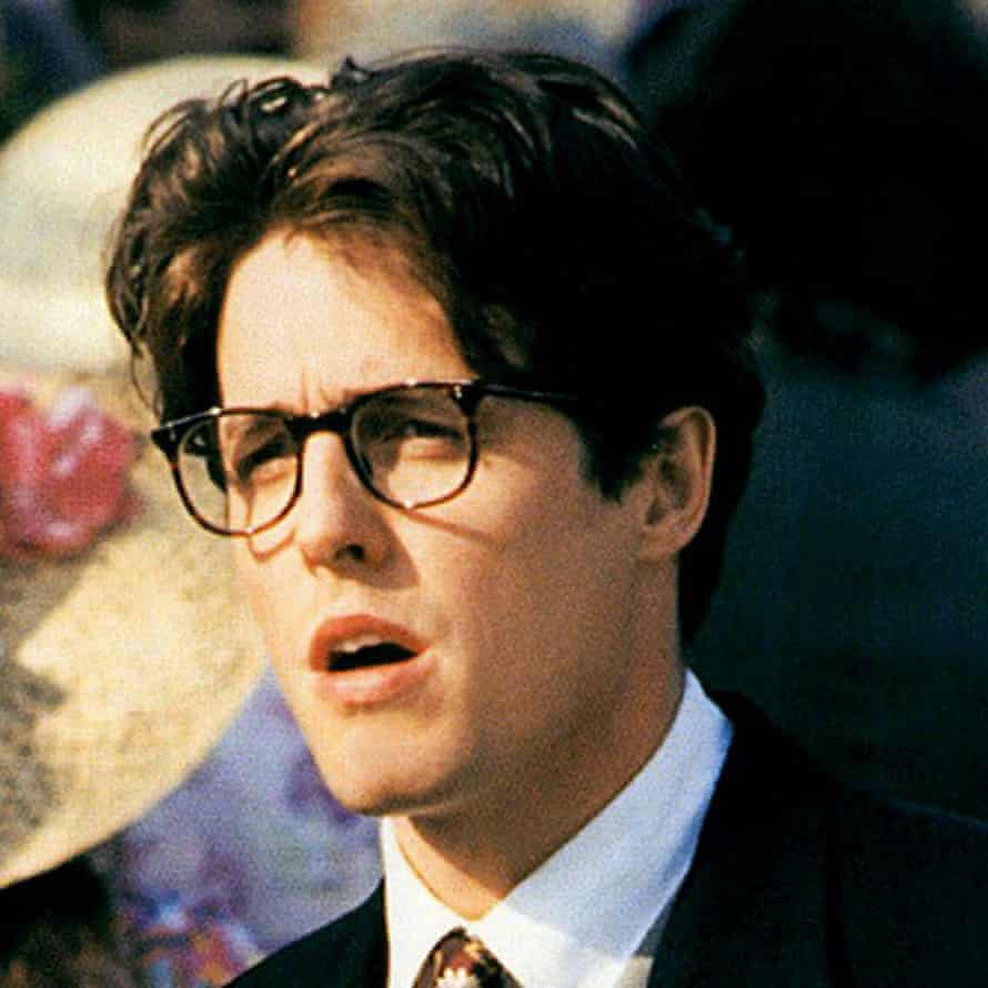 Hugh Grant in 1994 in Four Weddings and a Funeral.