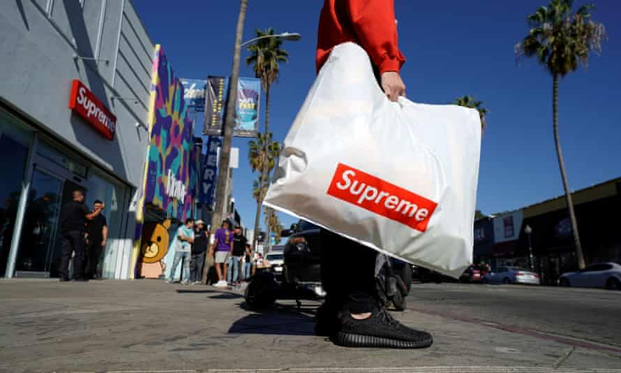 The Supreme store on Fairfax in Los Angeles. According to VF, Supreme currently generates more than $500m in annual revenues.