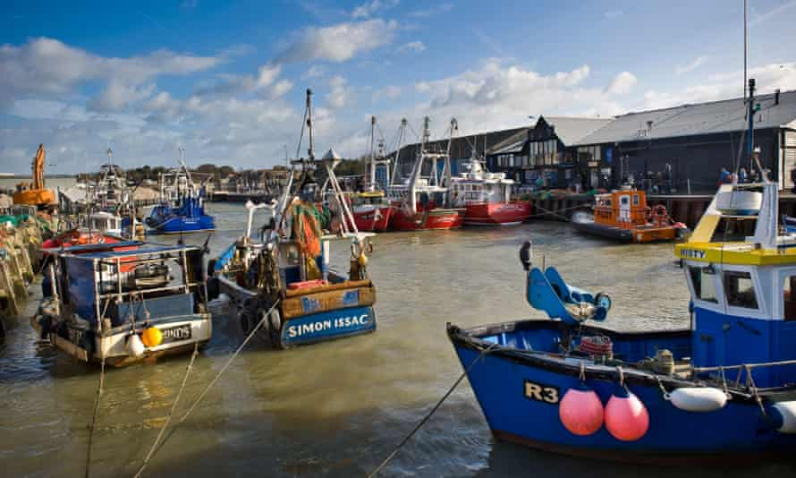 Fishing boats at Whitstable harbour in Kent