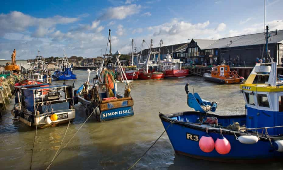 Fishing boats at Whitstable harbour, Kent
