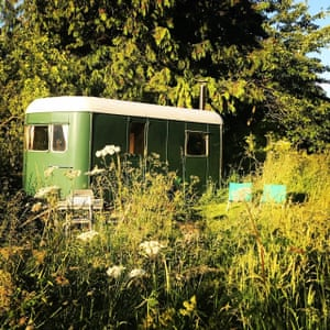 Caravan at Mad Dogs & Vintage Vans Glamping, Herefordshire, UK