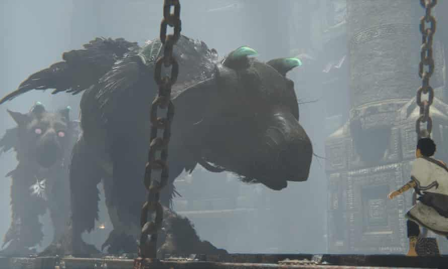 This screenshot released during E3 shows two giant beasts hinting that Trico is not one of a kind