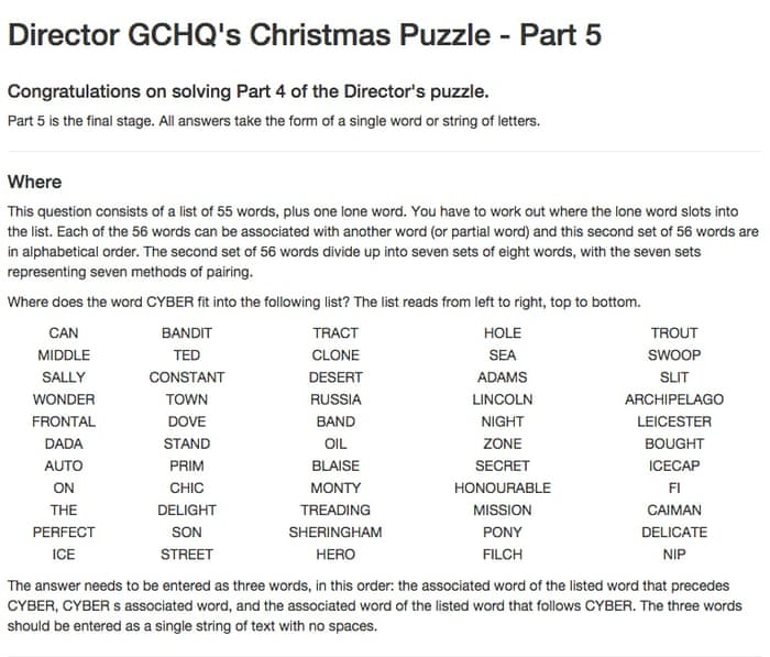 Gchq Christmas Puzzle Likely To Be Worked Out Before Festive Season
