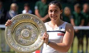 Marion Bartoli wins a major, Wimbledon in 2013, shortly before retiring.