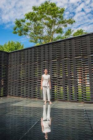 Frida Escobedo in her 2018 Serpentine Pavilion.