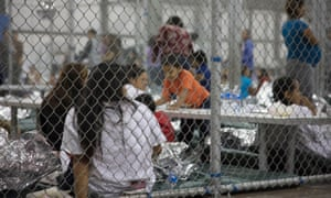 Children separated from their parents at the US border, Texas.