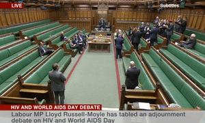 Lloyd Russell-Moyle receiving a standing ovation in the Commons from Labour MPs