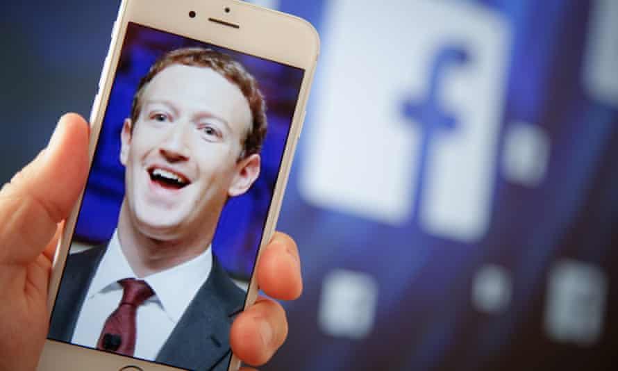Mark Zuckerberg on a smartphone