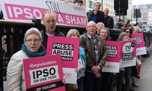 Hacked Off protests about press regulator Ipso.
