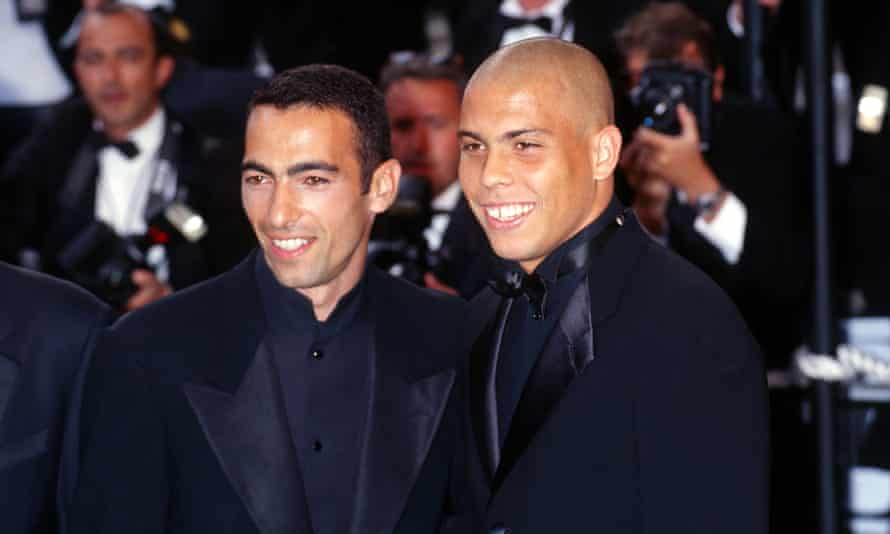 Djorkaeff and Ronaldo at the Cannes Festival in 1998.