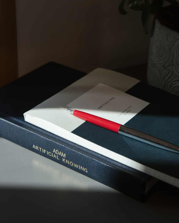 Notebook's on Dr Barbara Ribeiro's desk.
