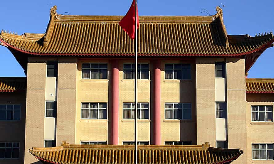 The Chinese embassy in Canberra.