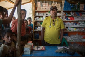 Drug shop run by 'Dr Ripon' in Balukhali refugee camp