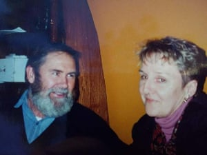 Paddy Garritty with his partner Mary Price, who he met in 1985.