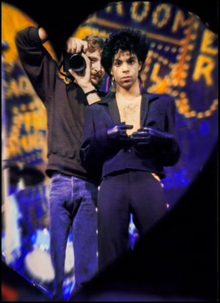 Jeff Katz at work with Prince.