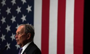 Michael Bloomberg attends a campaign event in Houston, Texas, on Thursday.