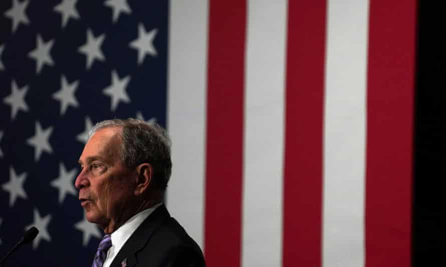 Democratic presidential candidate Michael Bloomberg attends a campaign event at Buffalo Soldiers national museum in Houston, Texas, on 13 February.