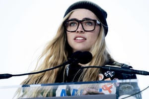 Delaney Tarr, a survivor from Marjory Stoneman Douglas High School speaks during the rally