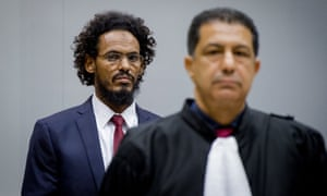 Ahmad al-Faqi al-Mahdi, who helped to destroy shrines in Timbuktu, at the international criminal court in The Hague