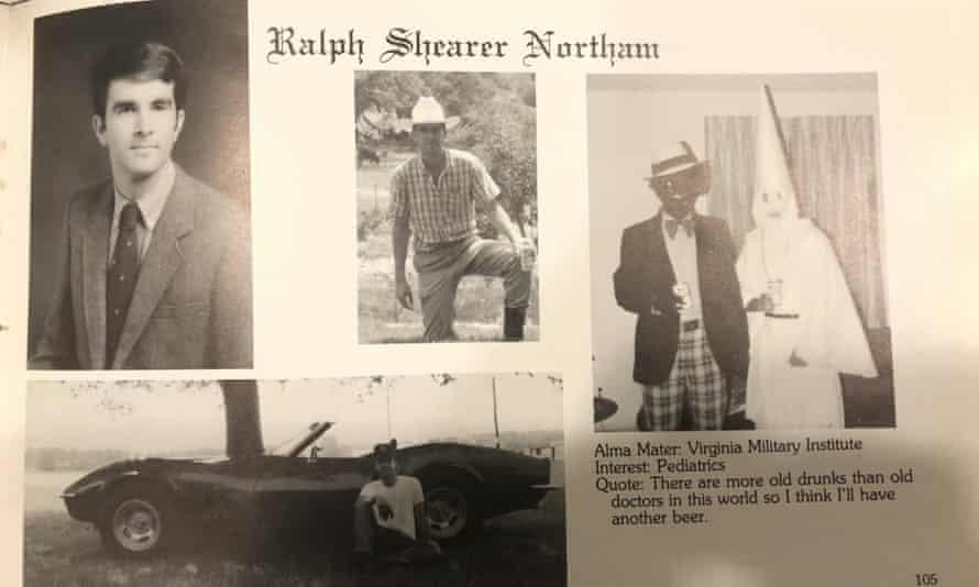 Ralph Northam's page in his 1984 Eastern Virginia Medical School yearbook.