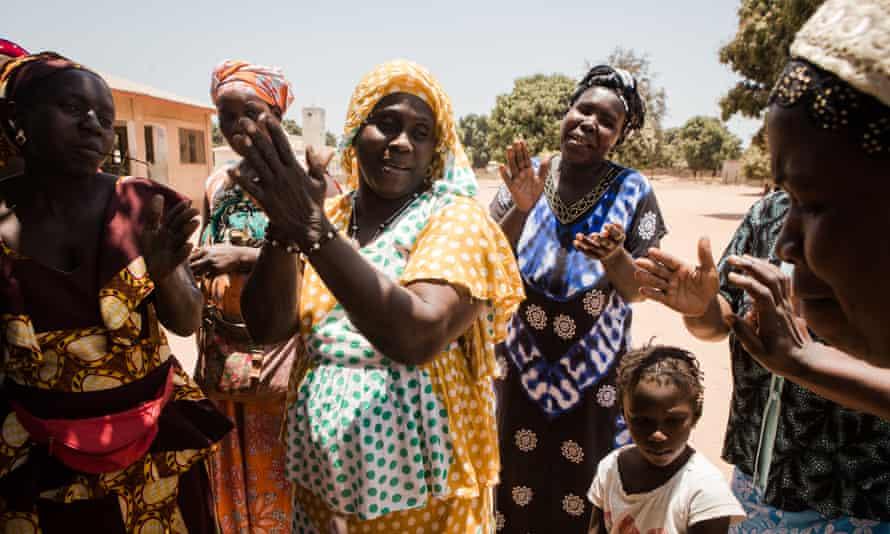 Kangenlen Kato, a song and dance group raising awareness of trachoma in Mariama Kunda, the Gambia
