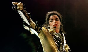 Pop star Michael Jackson performing during his concert in Vienna, Austria, in 1997.