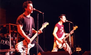 Green Day on stage, 1997.