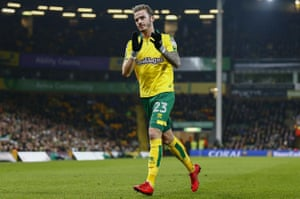 James Maddison in action for Norwich City at Carrow Road.