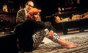 David Suchet (George) and Diana Rigg (Martha) in Who's Afraid of Virgina Woolf at the Almeida in 1996.