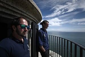 Dalisson and Quezel-Guerraz look at the ocean