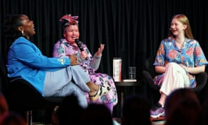 Flex Mami, Carly Finday and Bri Lee in a panel on Beauty at an ideas festival held on Sunday 8 March.