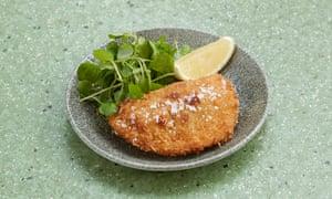 'Findus Crispy Pancake tribute act': prawn turnover.