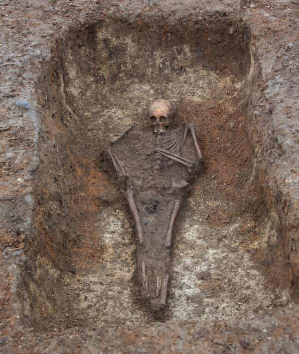 The bed on which the girl was buried was probably her own; this type of burial is an exceptionally rare find.