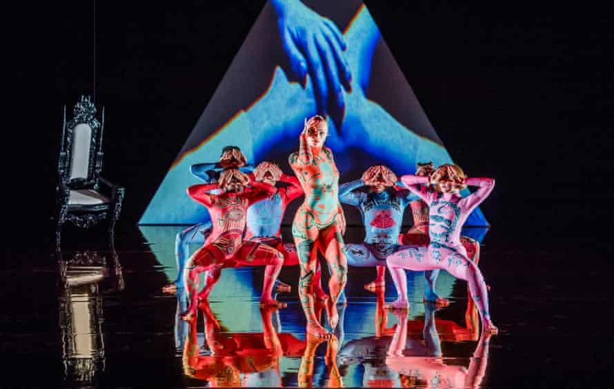 Shelley Eva Haden, centre, in MK Ultra by Rosie Kay Dance Company: 'a postmodern Fantasia'.