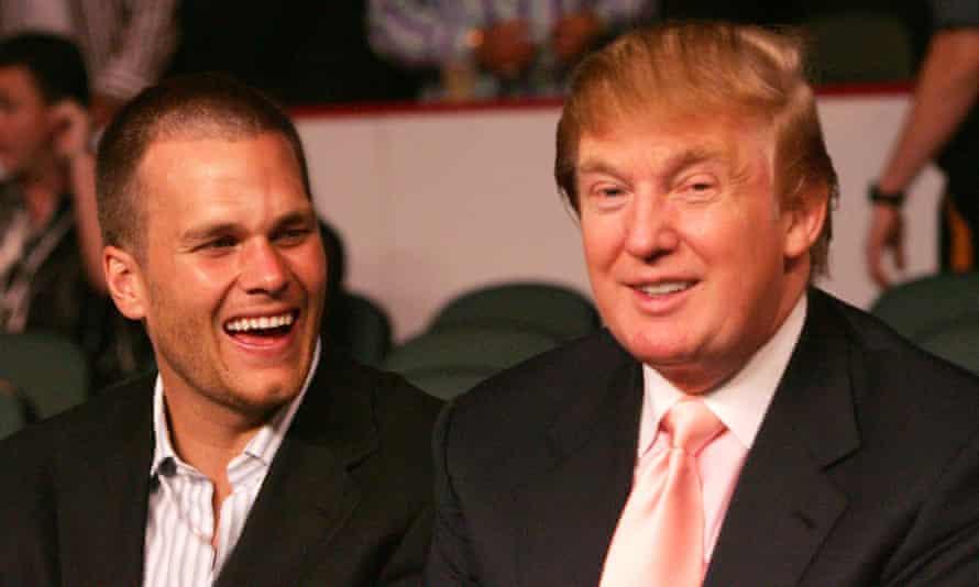 Tom Brady ringside with Donald Trump at the Floyd Mayweather-Arturo Gatti fight in 2005.